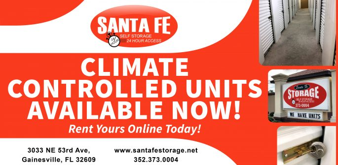 Gainesville Self Storage Climate Controlled Units Now Available